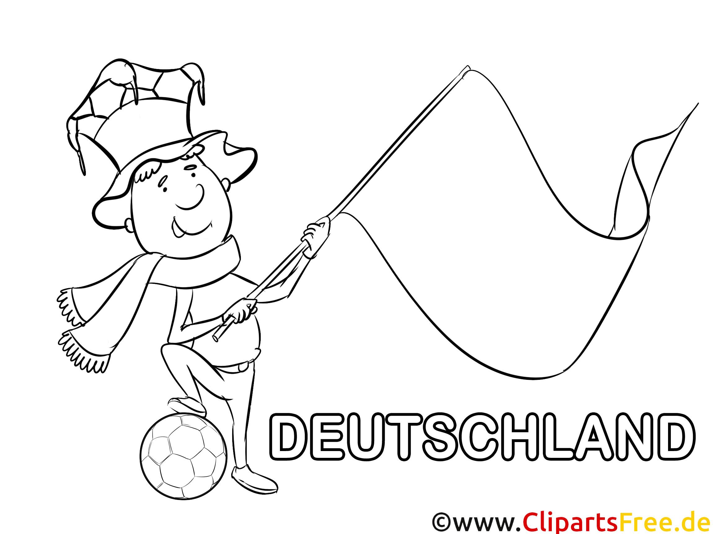 Ausmalbilder Deutschland  Clown Ausmalbilder Fußball Deutschland