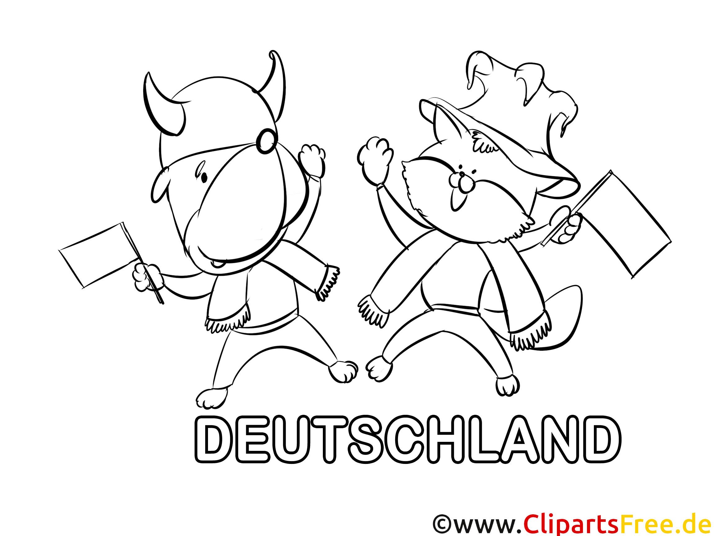 Ausmalbilder Deutschland  Tiere Ausmalbilder Fußball Deutschland
