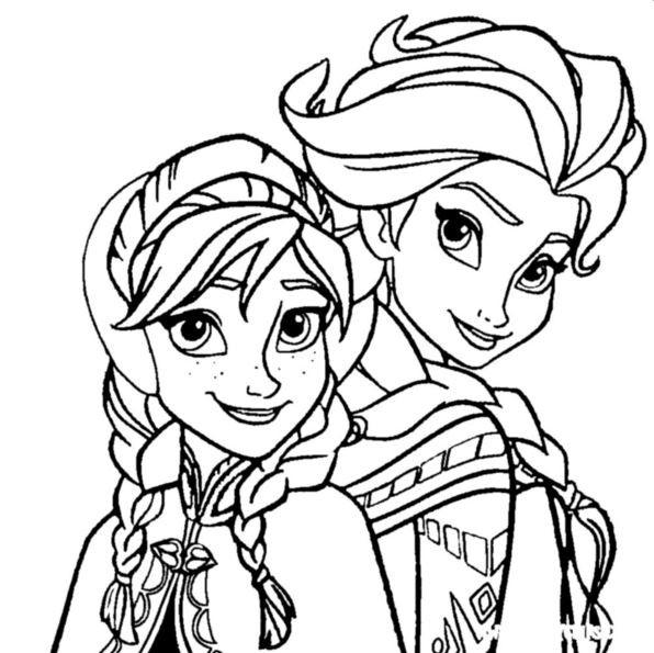 Ausmalbilder Disney Frozen  Kids n fun