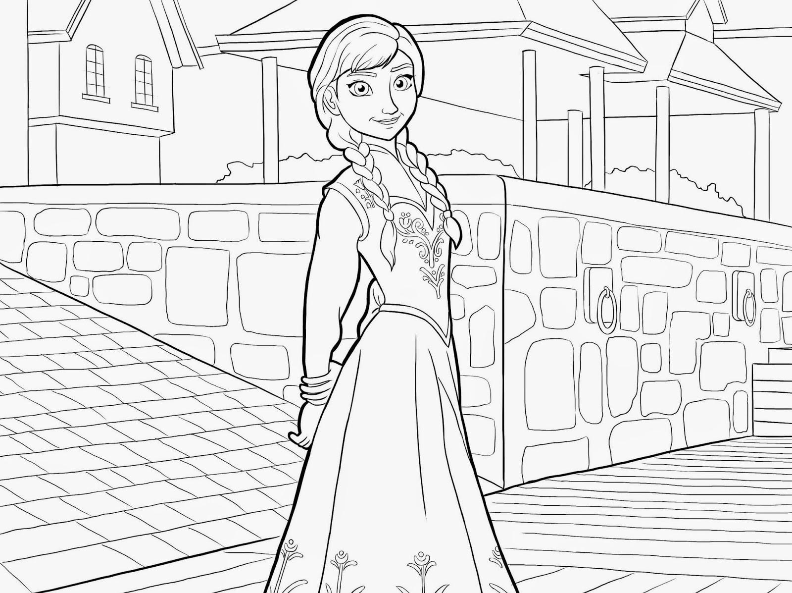 Ausmalbilder Disney Frozen  Ausmalbilder zum Ausdrucken Ausmalbilder Disney Frozen