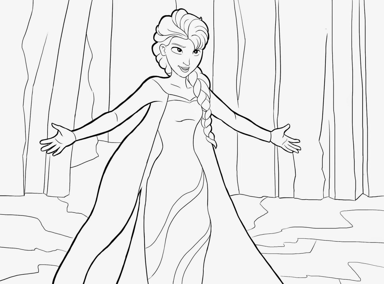 Ausmalbilder Disney Frozen  AUSMALBILDER Deutschland April 2014