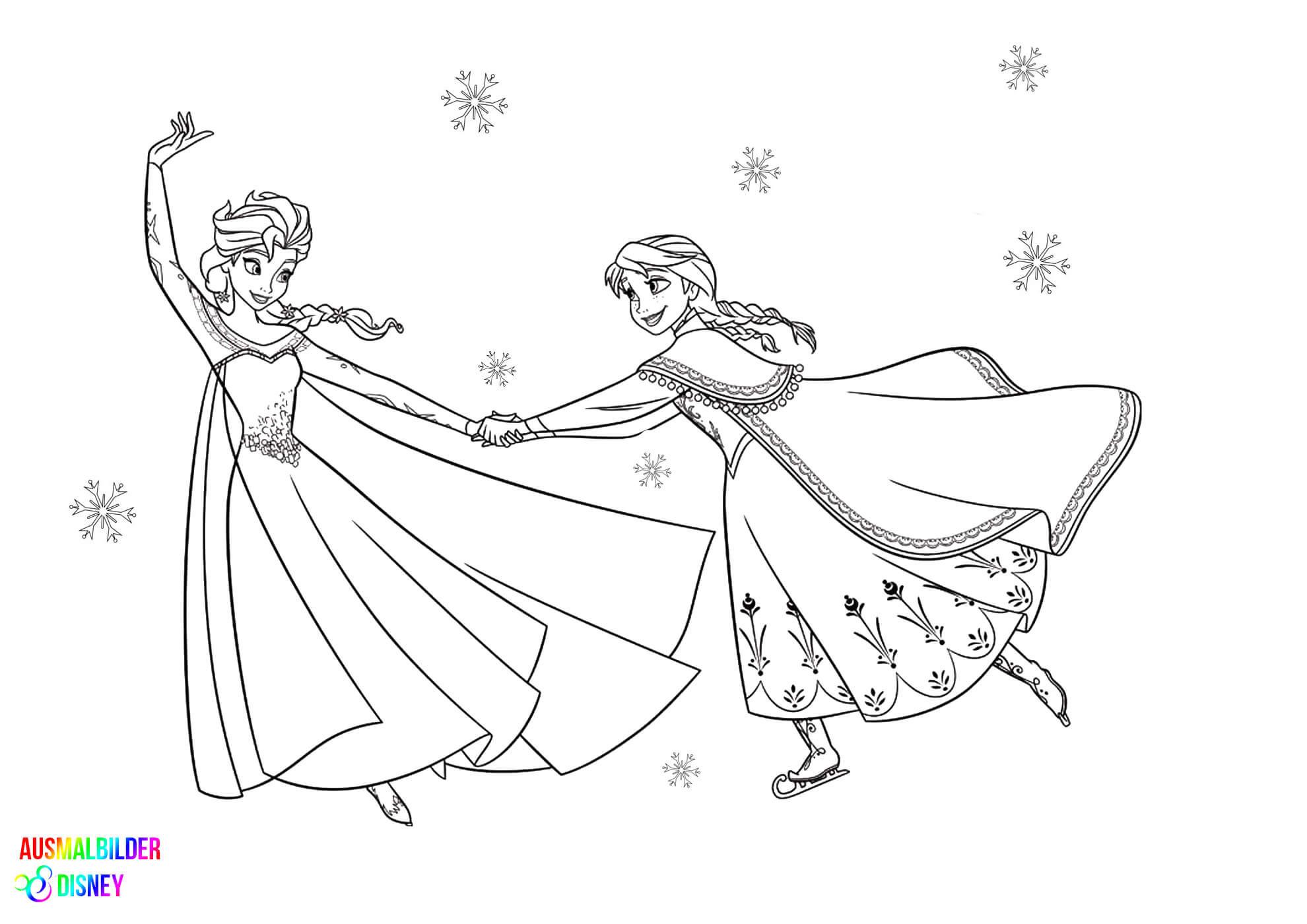 Ausmalbilder Disney Frozen  Malvorlagen Frozen – Ausmalbilder Disney Malvorlagen Elsa