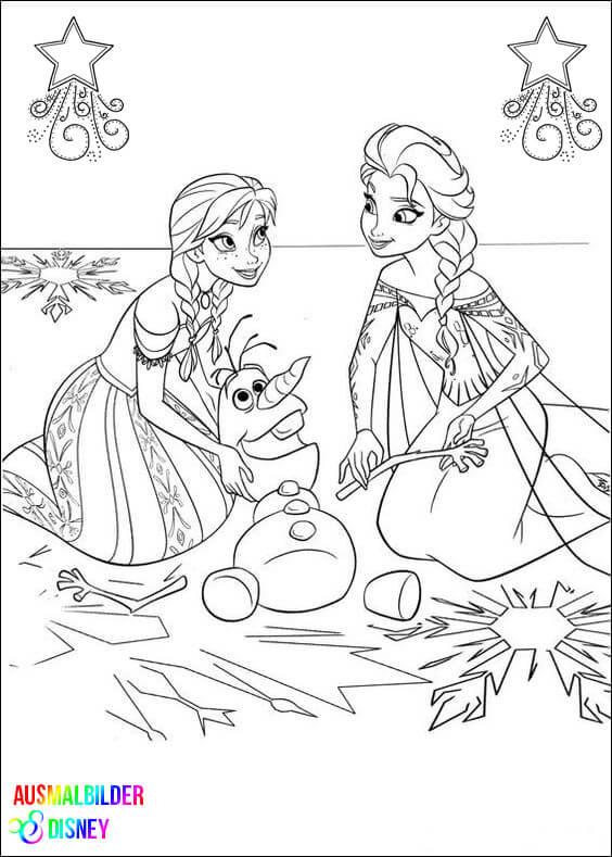 Ausmalbilder Disney Frozen  Ausmalbilder Disney Frozen Wihnachten – Ausmalbilder