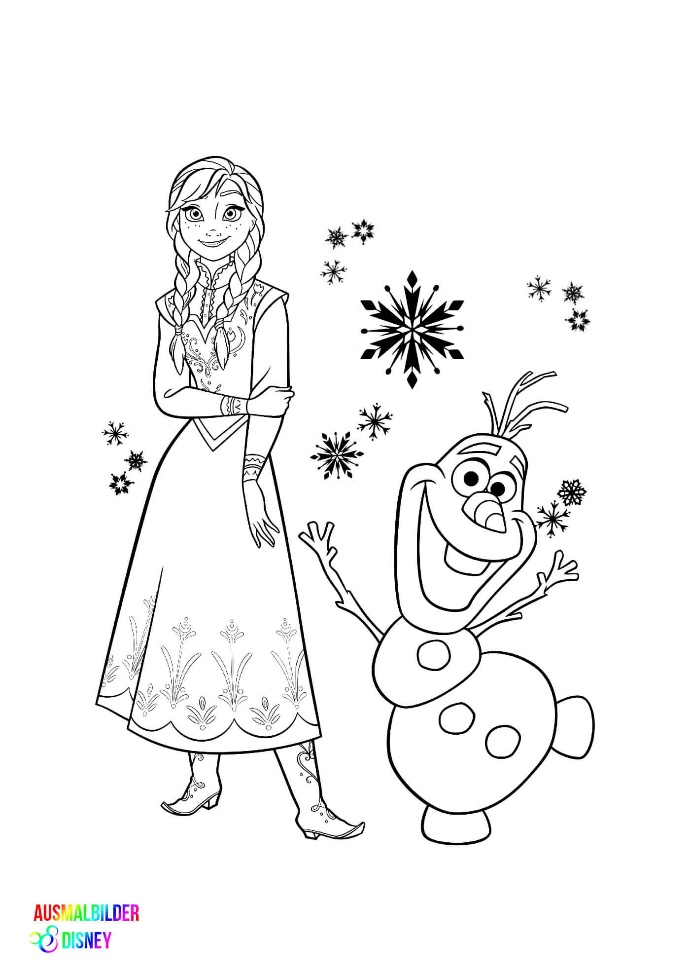 Ausmalbilder Disney Frozen  Frozen Disney Ausmalbilder – Ausmalbilder Disney