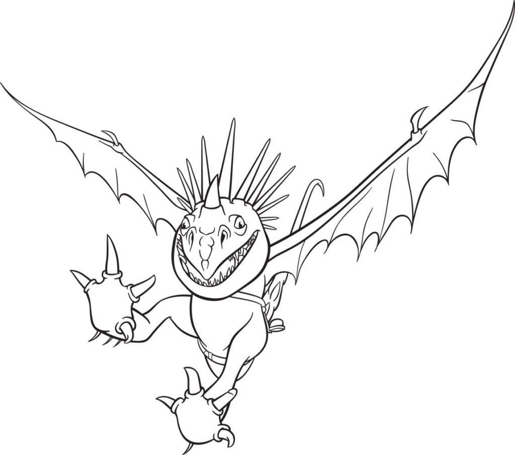 Ausmalbilder Dragons Ohnezahn  Dragons Ausmalbilder