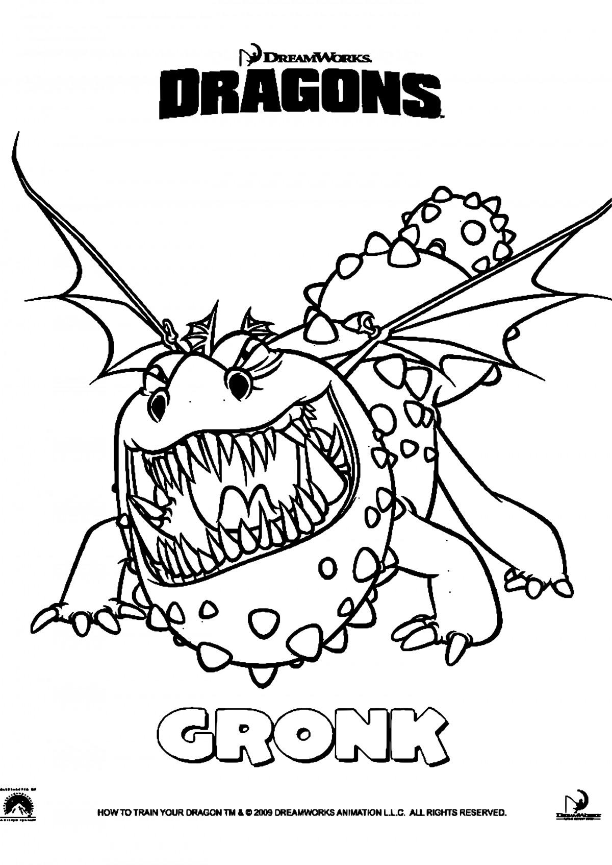 Ausmalbilder Dragons Ohnezahn  Ausmalbilder Zum Ausdrucken Ohnezahn