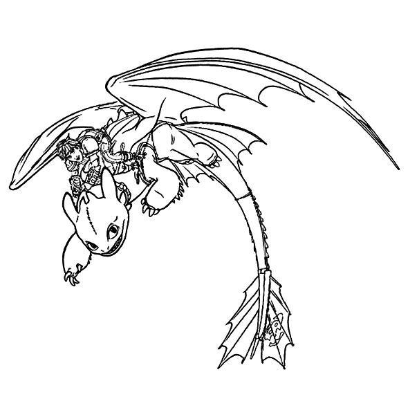 Ausmalbilder Dragons Ohnezahn  Kids n fun