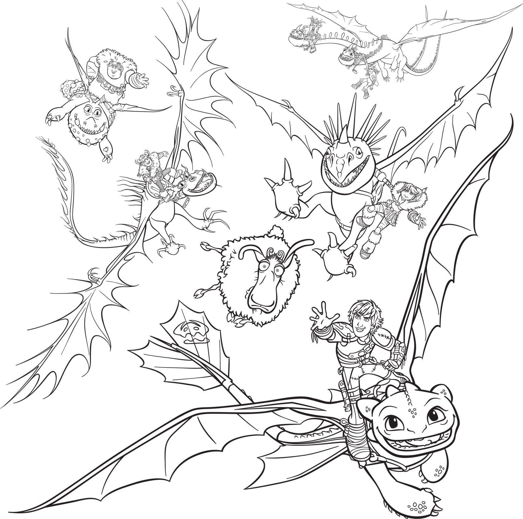 Ausmalbilder Dragons Ohnezahn  Malvorlage Drachen Ohnezahn Ausmalbilder von Ohnezahn