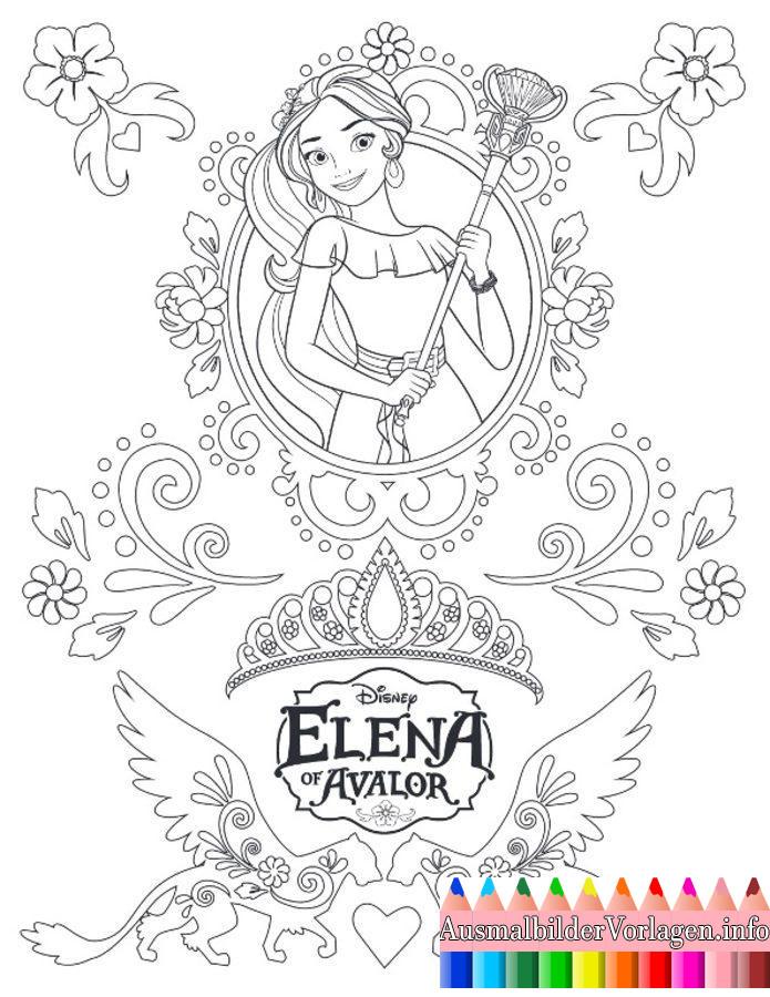 Ausmalbilder Elena Von Avalor  Elena Avalor Ausmalbilder ics Ausmalbilder von