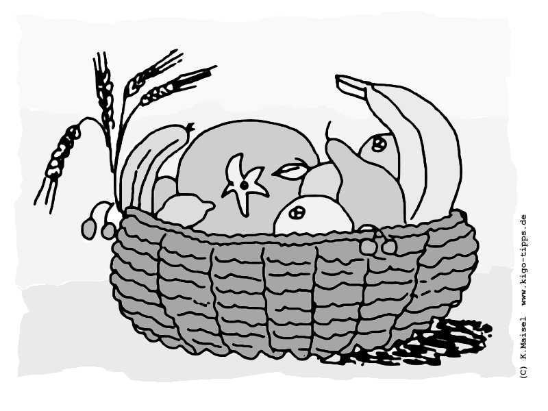 Ausmalbilder Erntedank  Erntedank Die KiGo Tipps Kindergottes nst