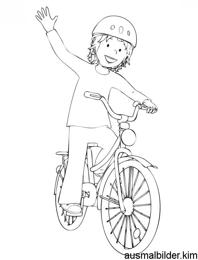 Ausmalbilder Fahrrad  Ausmalbilder conni fahrrad