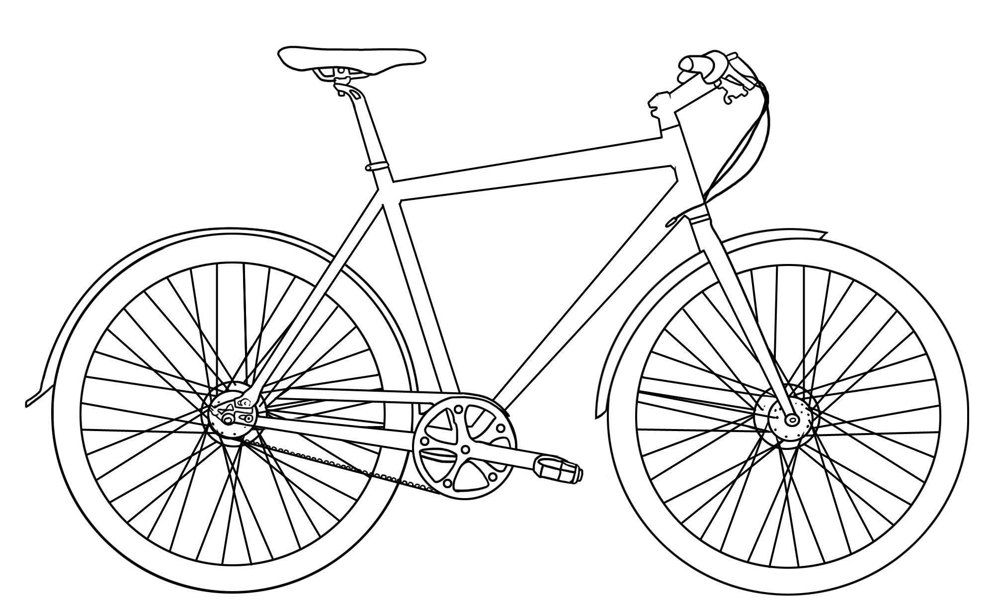 Ausmalbilder Fahrrad  GRATIS AUSMALBILDER FAHRRäDER Ausmalbilder