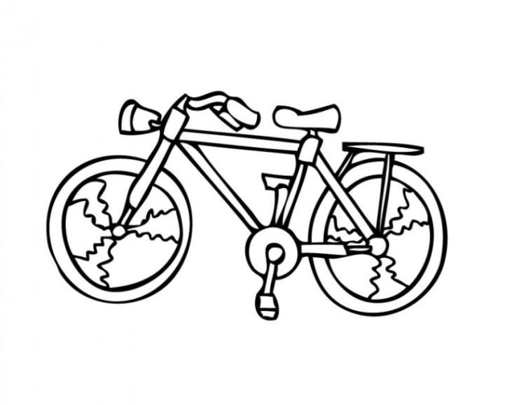 Ausmalbilder Fahrrad  Malvorlagen zum Ausmalen Ausmalbilder fahrrad gratis 2