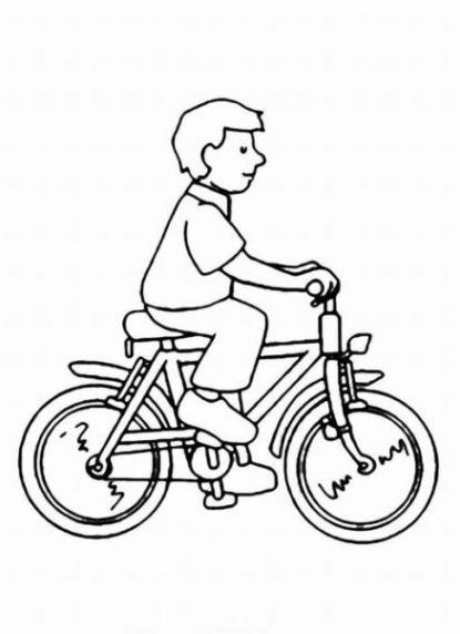 Ausmalbilder Fahrrad  Ausmalbilder zum Ausmalen Malvorlagen fahrrad kostenlos 1