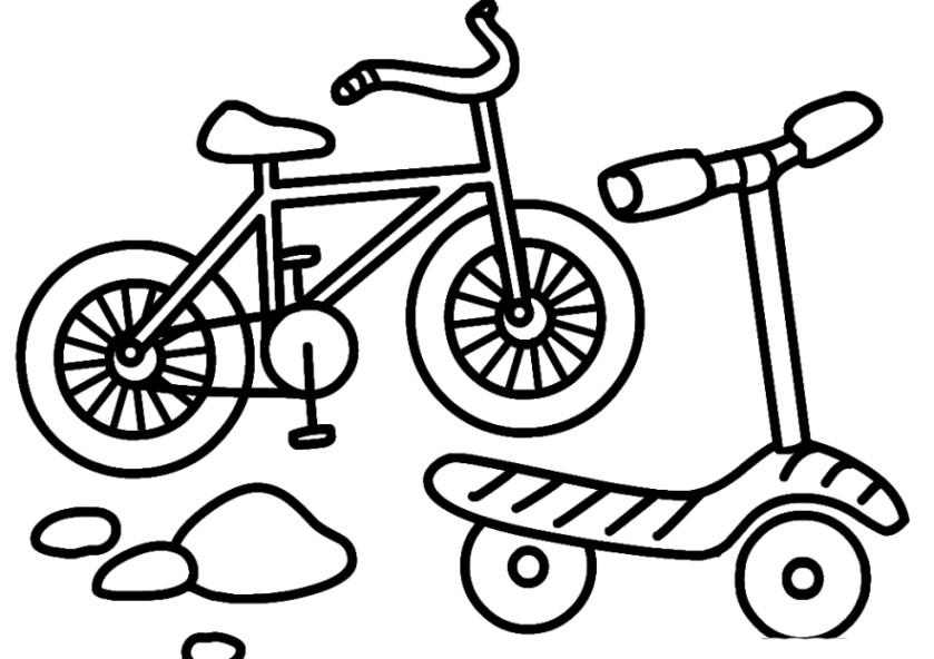 Ausmalbilder Fahrrad  Ausmalbilder zum Drucken Malvorlage fahrrad kostenlos 2