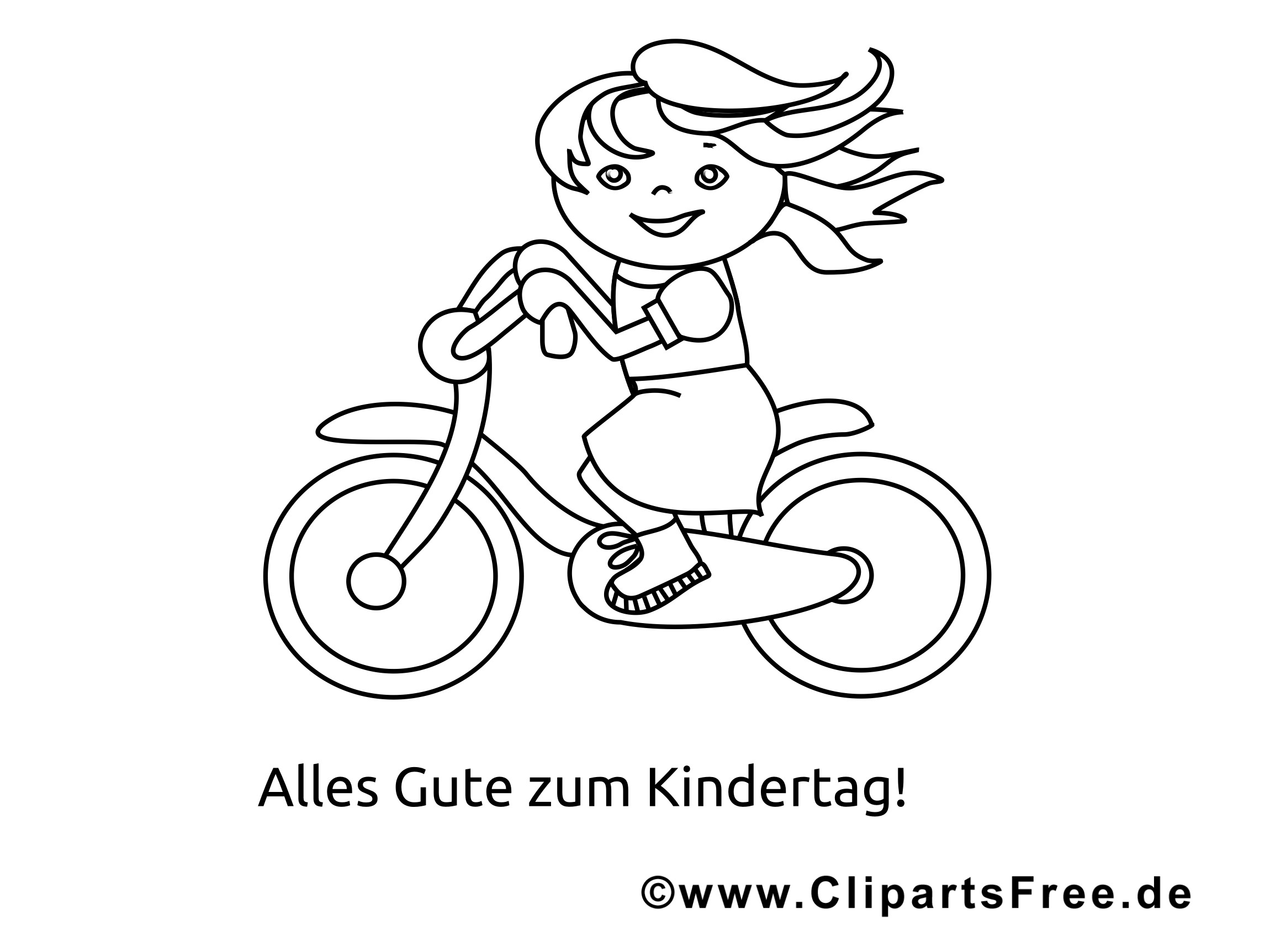 Ausmalbilder Fahrrad  Fahrrad fahren Malvorlage