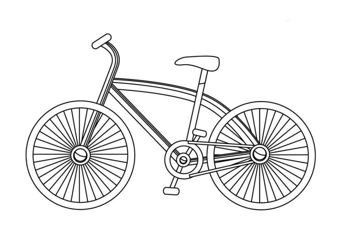 Ausmalbilder Fahrrad  Vorlagen zum Ausdrucken Ausmalbilder fahrrad Malvorlagen 1