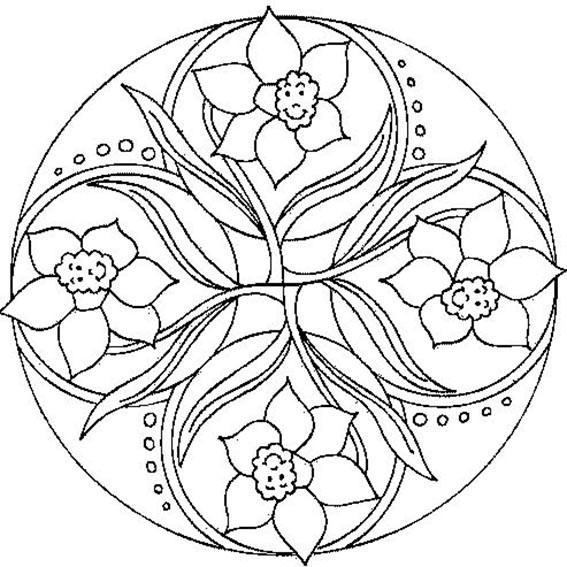 Ausmalbilder Frühling Mandala  Malvorlagen mandalas 03