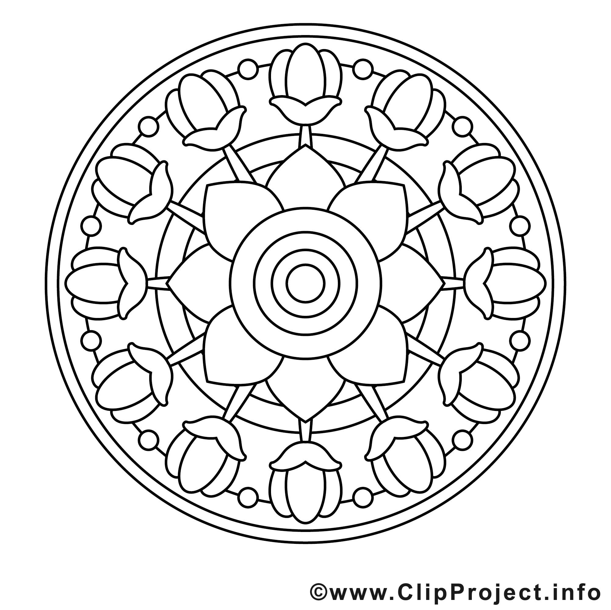 Ausmalbilder Frühling Mandala  Mandala Fruehling