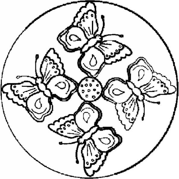 Ausmalbilder Frühling Mandala  Mandala 1