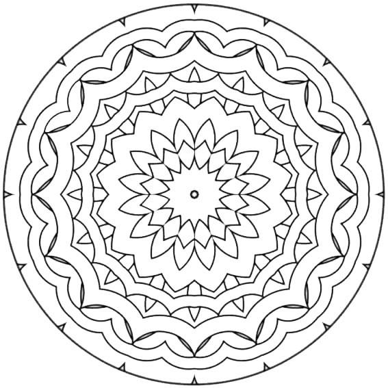 Ausmalbilder Frühling Mandala  Malvorlagen Mandala 04