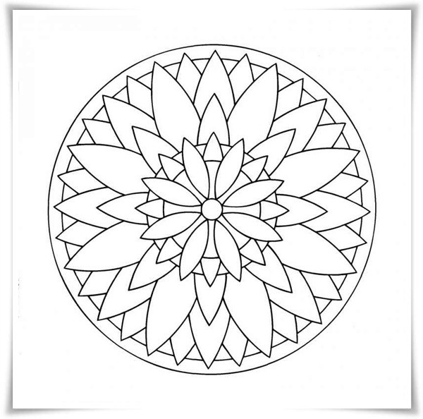 Ausmalbilder Frühling Mandala  Ausmalbilder zum Ausdrucken Ausmalbilder Mandala