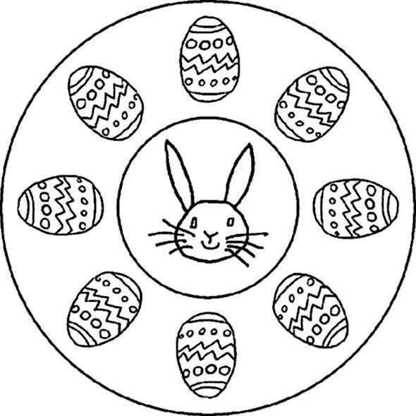 Ausmalbilder Frühling Mandala  Ausmalbilder kostenlos Ostern 21