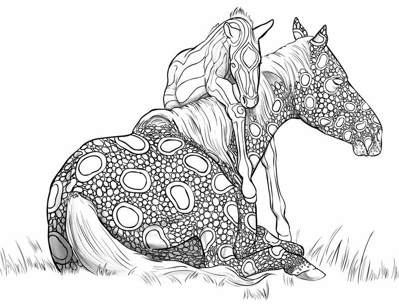 beste 20 ausmalbilder für erwachsene pferde  beste