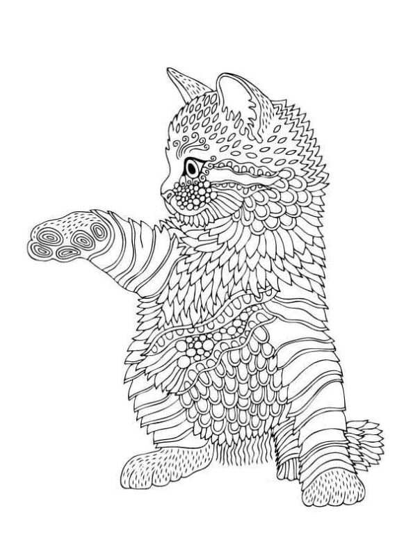 Ausmalbilder Für Erwachsene Tiere  Malvorlage Tiere fur erwachsene ausmalbilder vp3gs