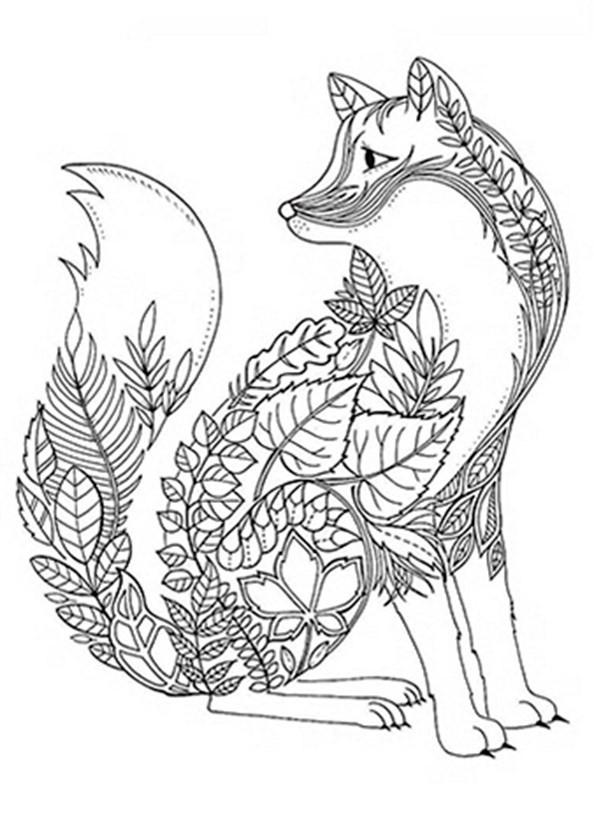 Ausmalbilder Für Erwachsene Tiere  Tiere 4