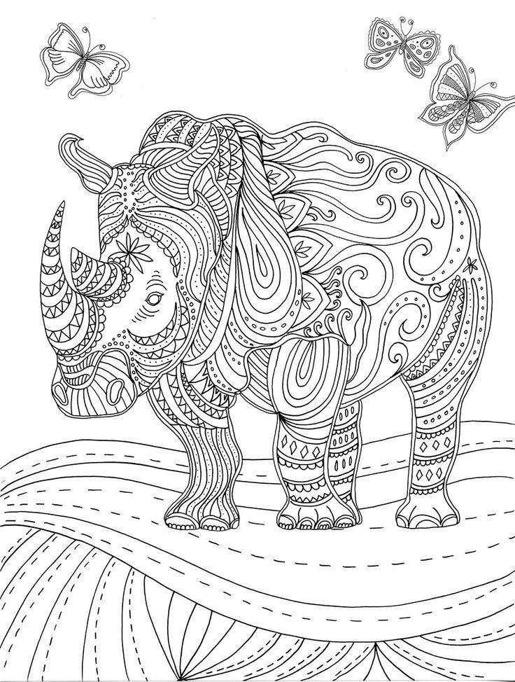Ausmalbilder Für Erwachsene Tiere  Ausmalbilder Tiere Mit Muster Schule