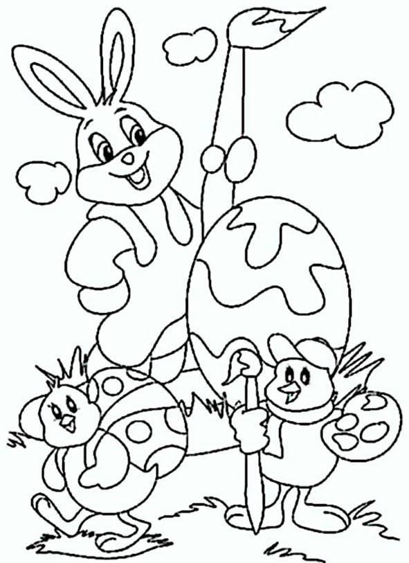 Ausmalbilder Für Ostern  Ausmalbilder Ostern 7
