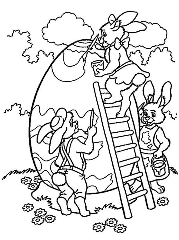 Ausmalbilder Für Ostern  Ausmalbilder Ostern 4