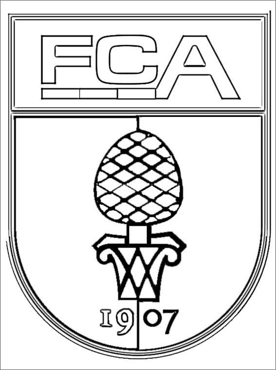 Ausmalbilder Fußball Wappen Zum Ausdrucken  fc augsburg wappen