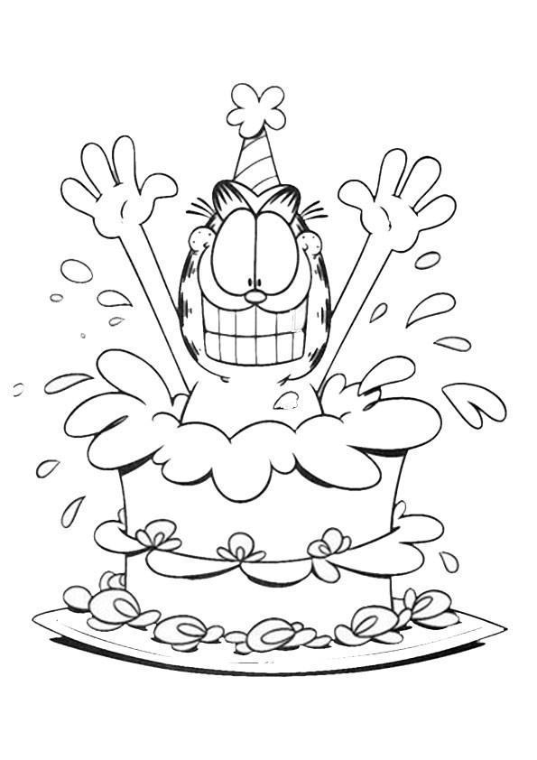 Ausmalbilder Geburtstag Zum Ausdrucken  Ausmalbilder Geburstag 4