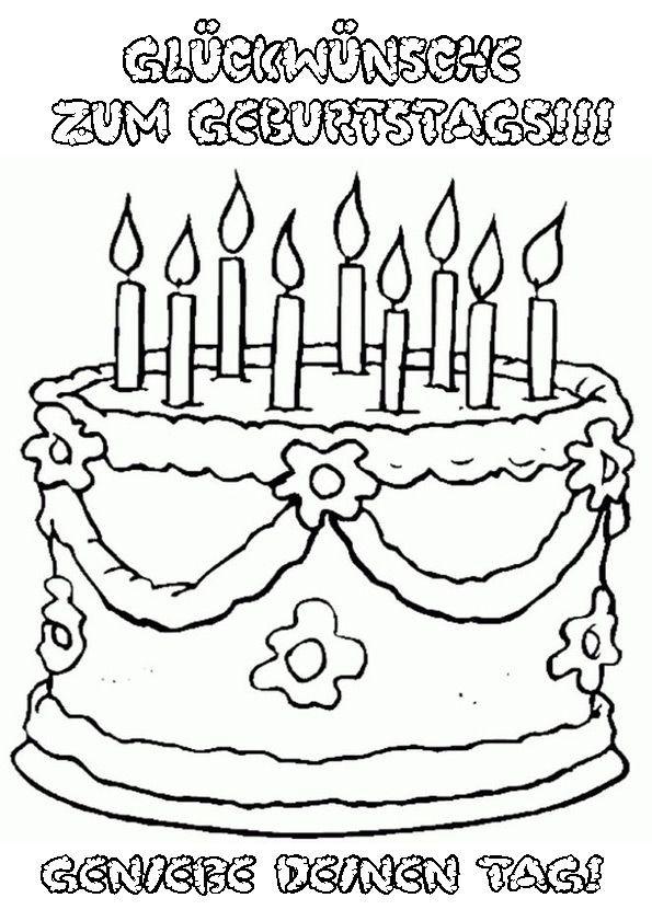 Ausmalbilder Geburtstag Zum Ausdrucken  Ausmalbilder Geburtstag 22