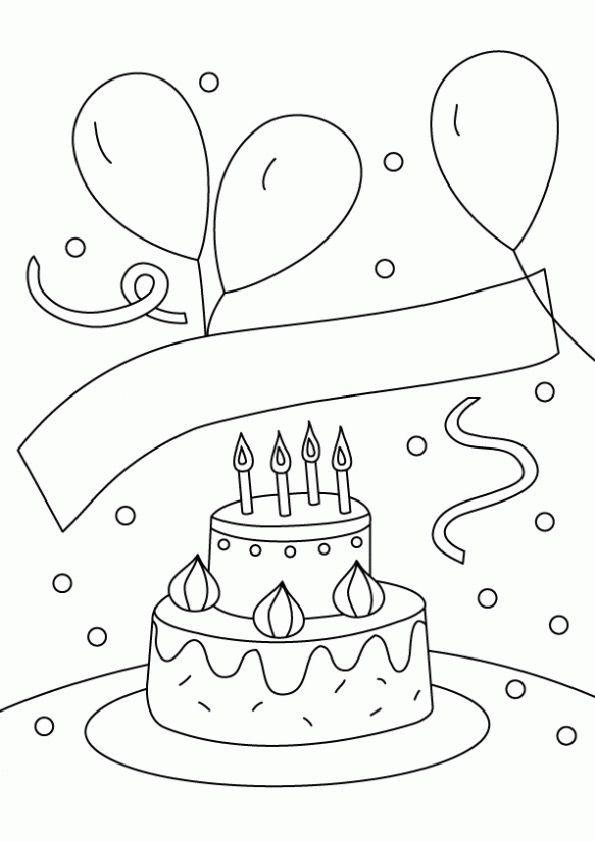 Ausmalbilder Geburtstag Zum Ausdrucken  Ausmalbilder Geburtstag 12