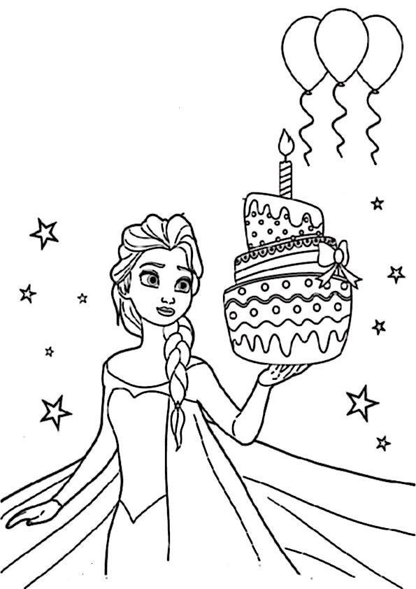 Ausmalbilder Geburtstag Zum Ausdrucken  Geburtstag 6 Ausmalbilder EiskniginGeburtstag Zum Ausmalen