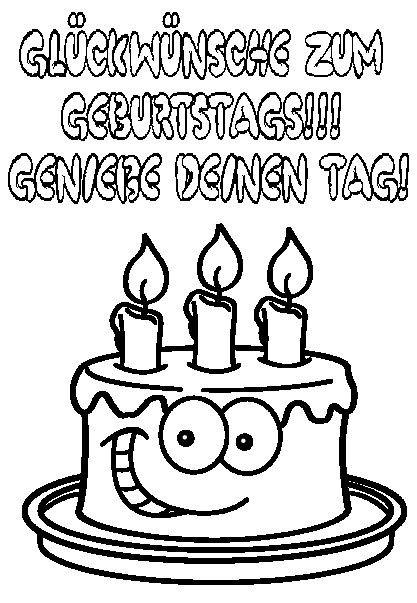 Ausmalbilder Geburtstag Zum Ausdrucken  Ausmalbilder Geburtstag 13