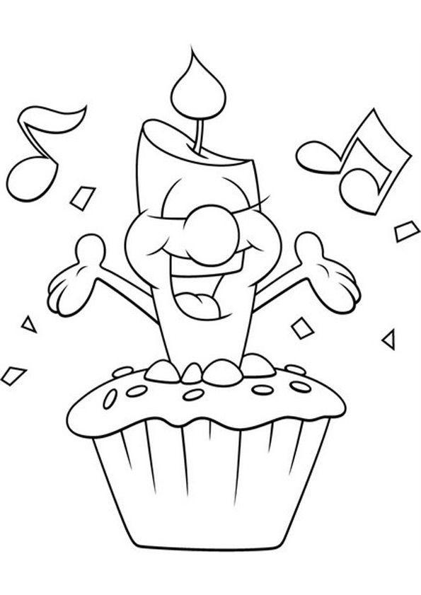 Ausmalbilder Geburtstag Zum Ausdrucken  Ausmalbilder Geburtstag 18