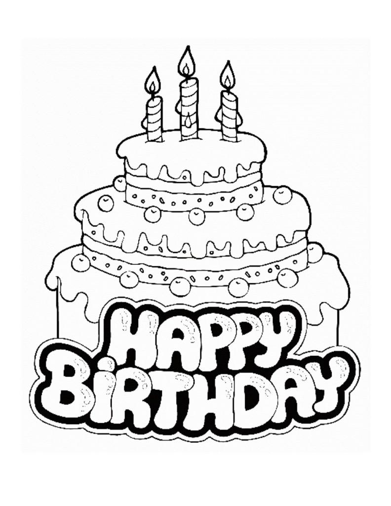 Ausmalbilder Geburtstag Zum Ausdrucken  KonaBeun zum ausdrucken ausmalbilder geburtstag