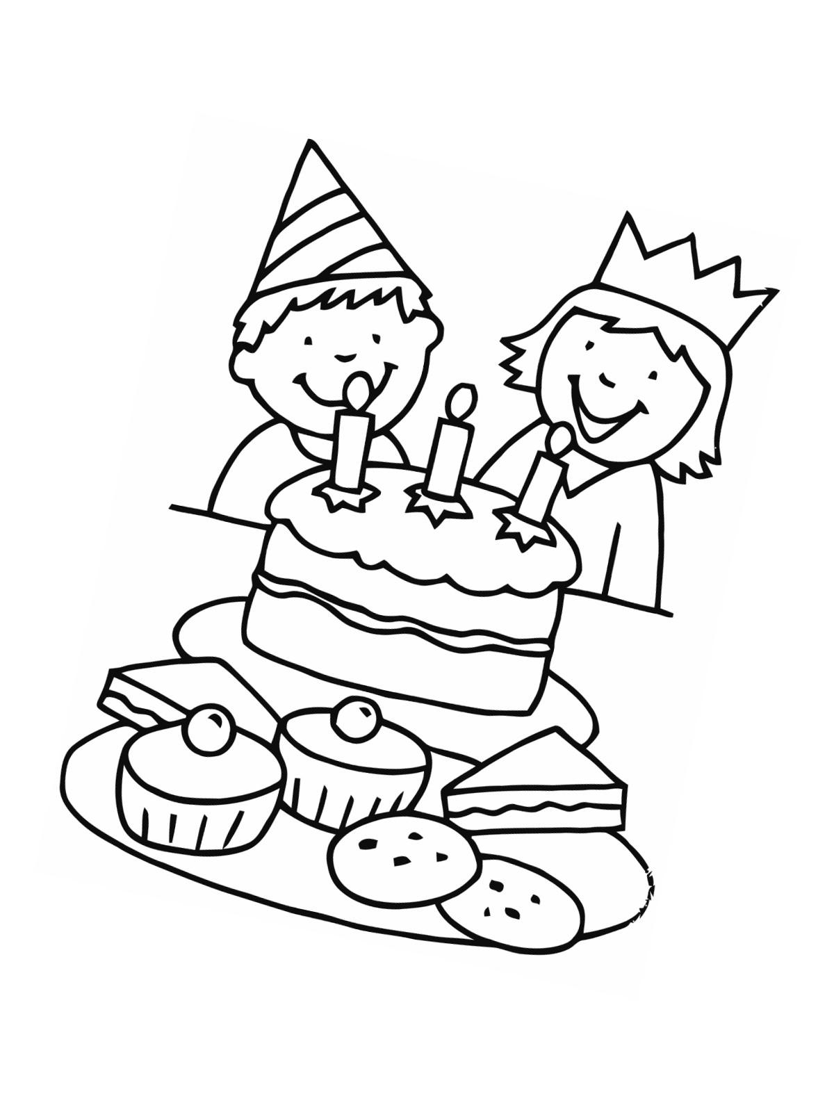 Ausmalbilder Geburtstag Zum Ausdrucken  Ausmalbilder Malvorlagen zum Geburtstag kostenlos zum