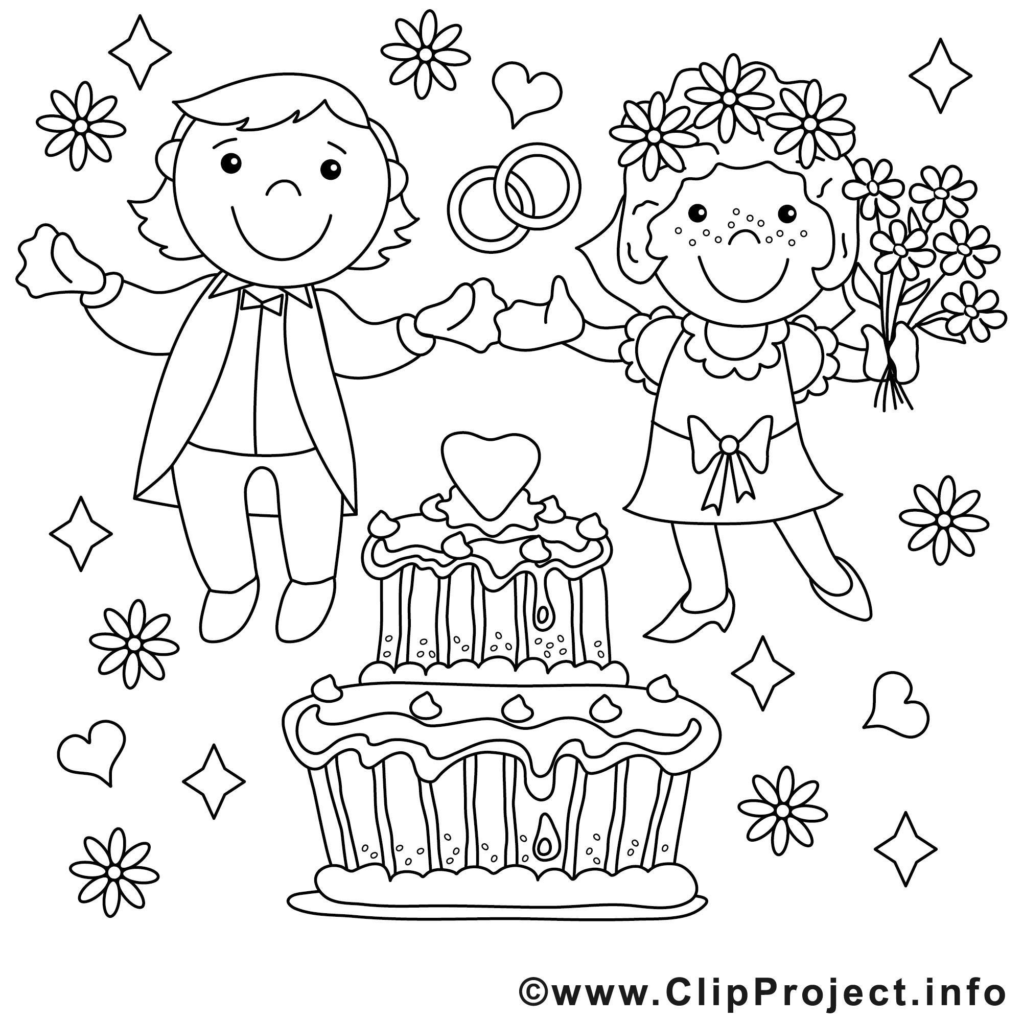 Ausmalbilder Hochzeit Kostenlos  Brautpaar Ausmalbilder Hochzeit