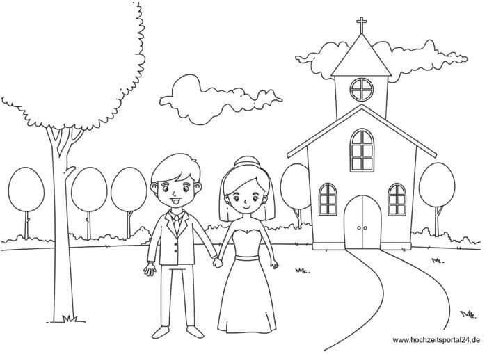 Ausmalbilder Hochzeit Kostenlos  Kindertisch für Hochzeit Schöne Tipps & Ideen für
