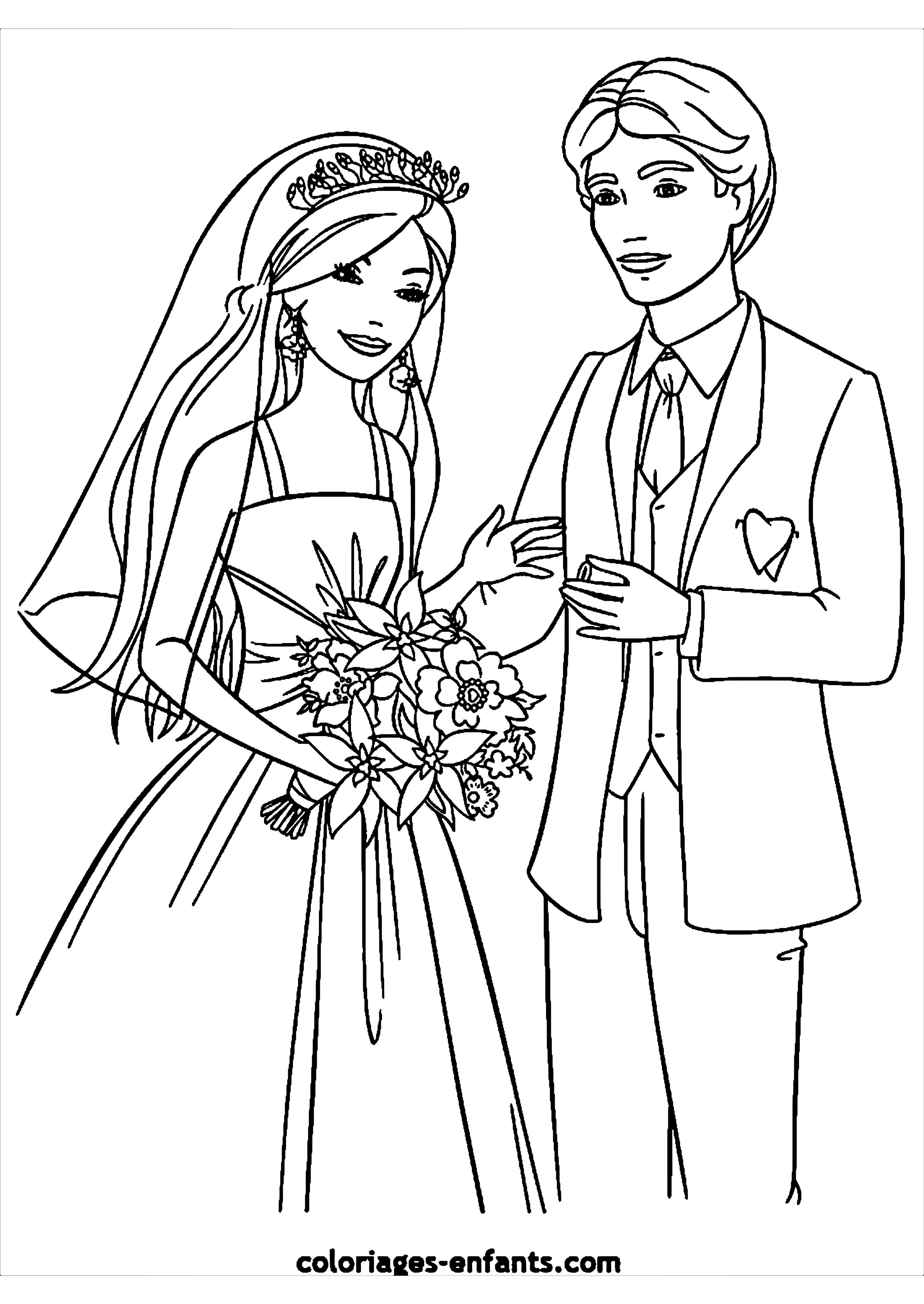 Ausmalbilder Hochzeit Kostenlos  Malvorlagen Kostenlos Hochzeit