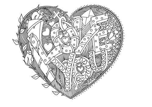 20 Besten Ideen Ausmalbilder I Love You Herz Beste Wohnkultur