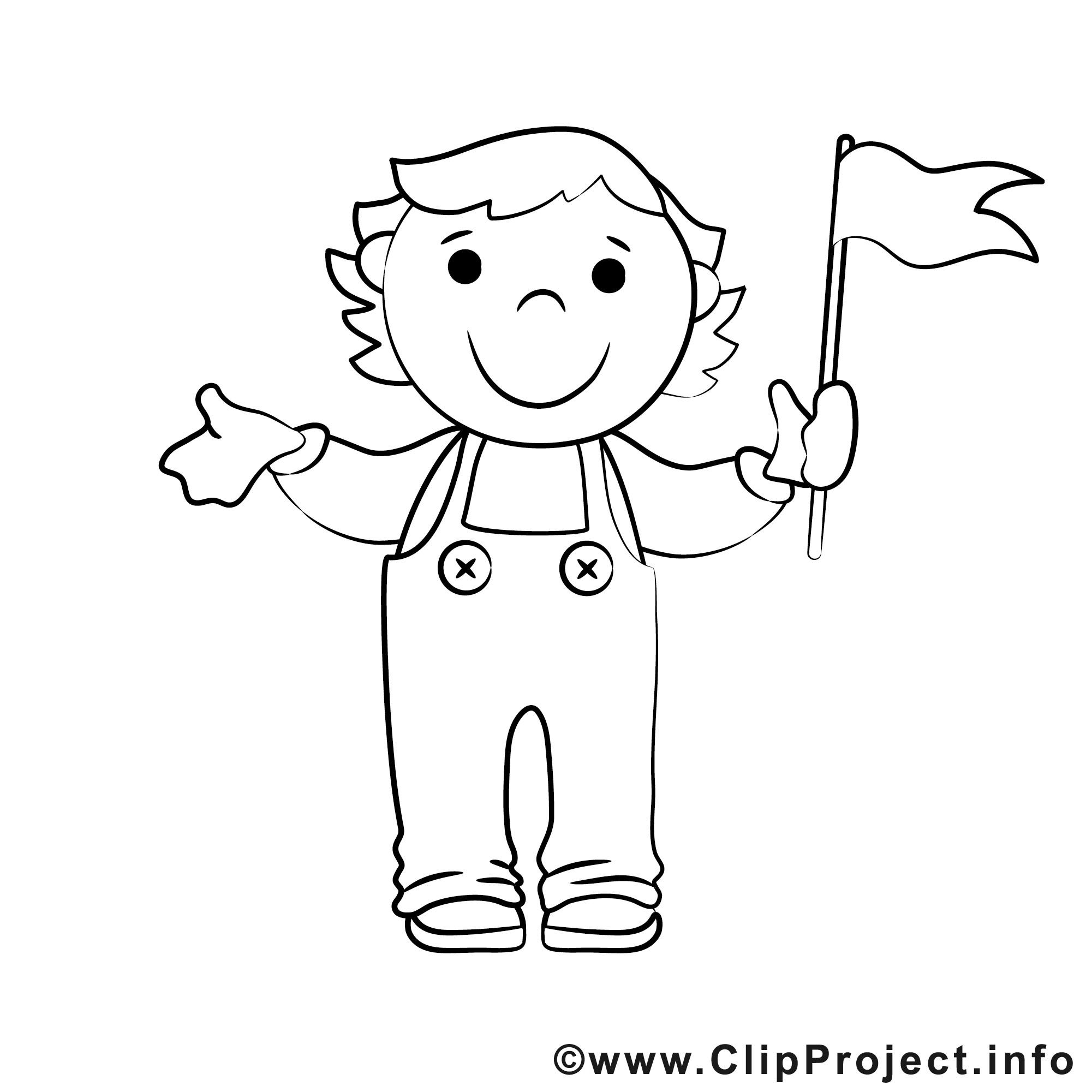 Ausmalbilder Junge  Junge im Kindergarten Bild zum Ausmalen