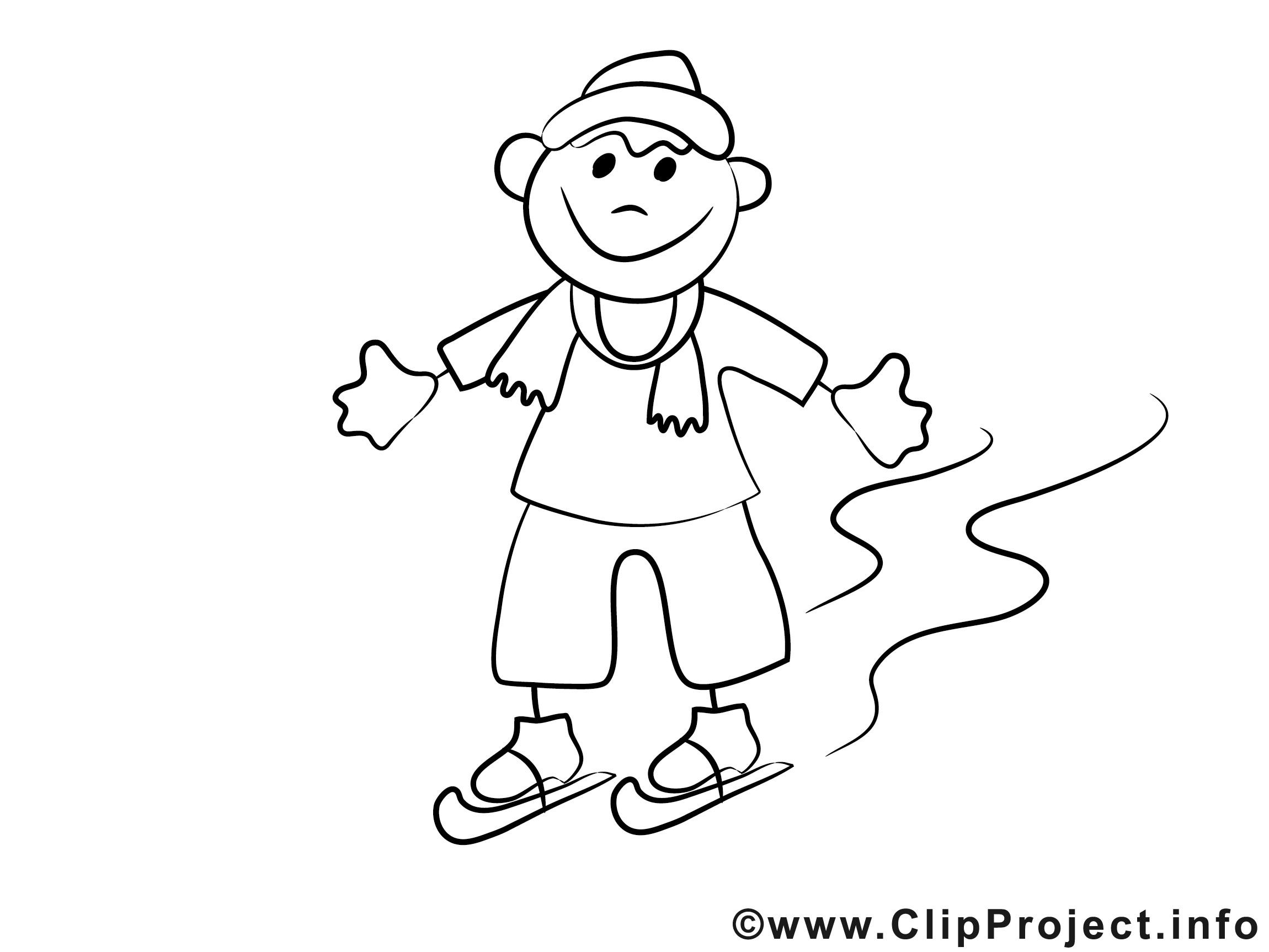 Ausmalbilder Junge  Junge läuft Schlittschuh Malvorlagen und kostenlose