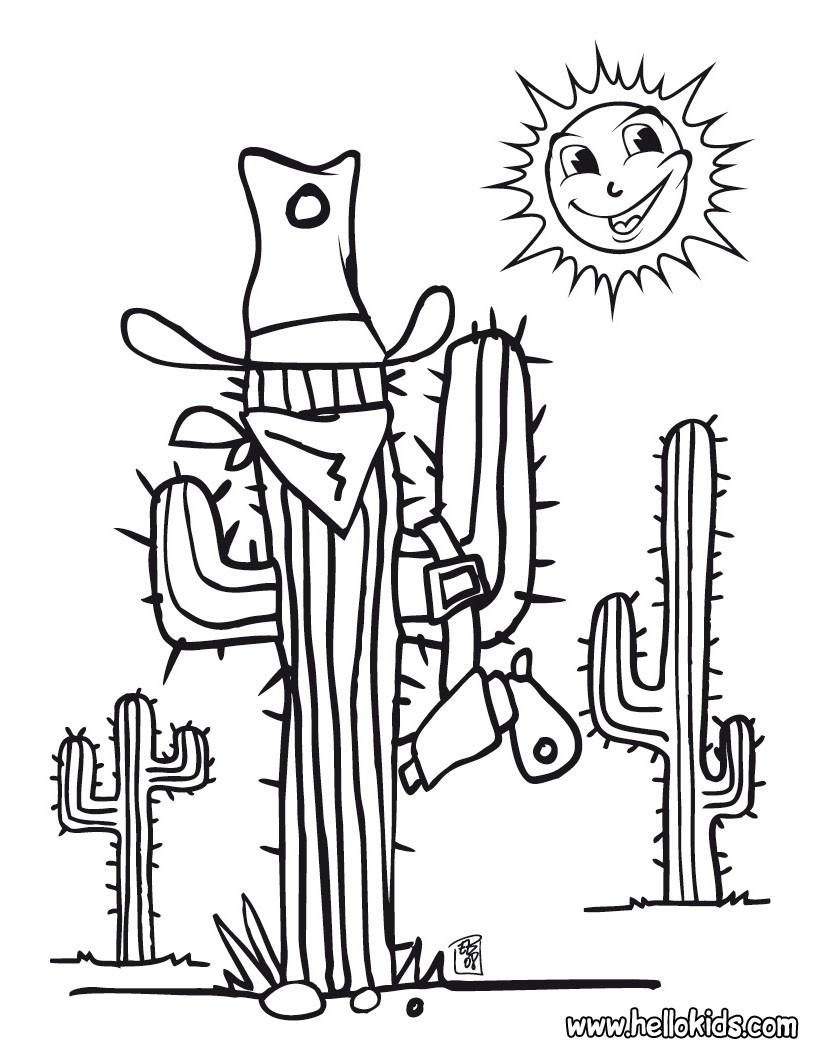 Ausmalbilder Kaktus  Kaktus zum ausmalen zum ausmalen de hellokids