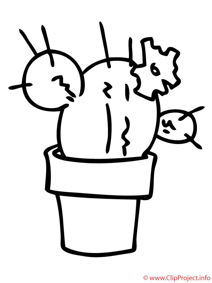 Ausmalbilder Kaktus  Kaktus Malvorlage fuer Kinder